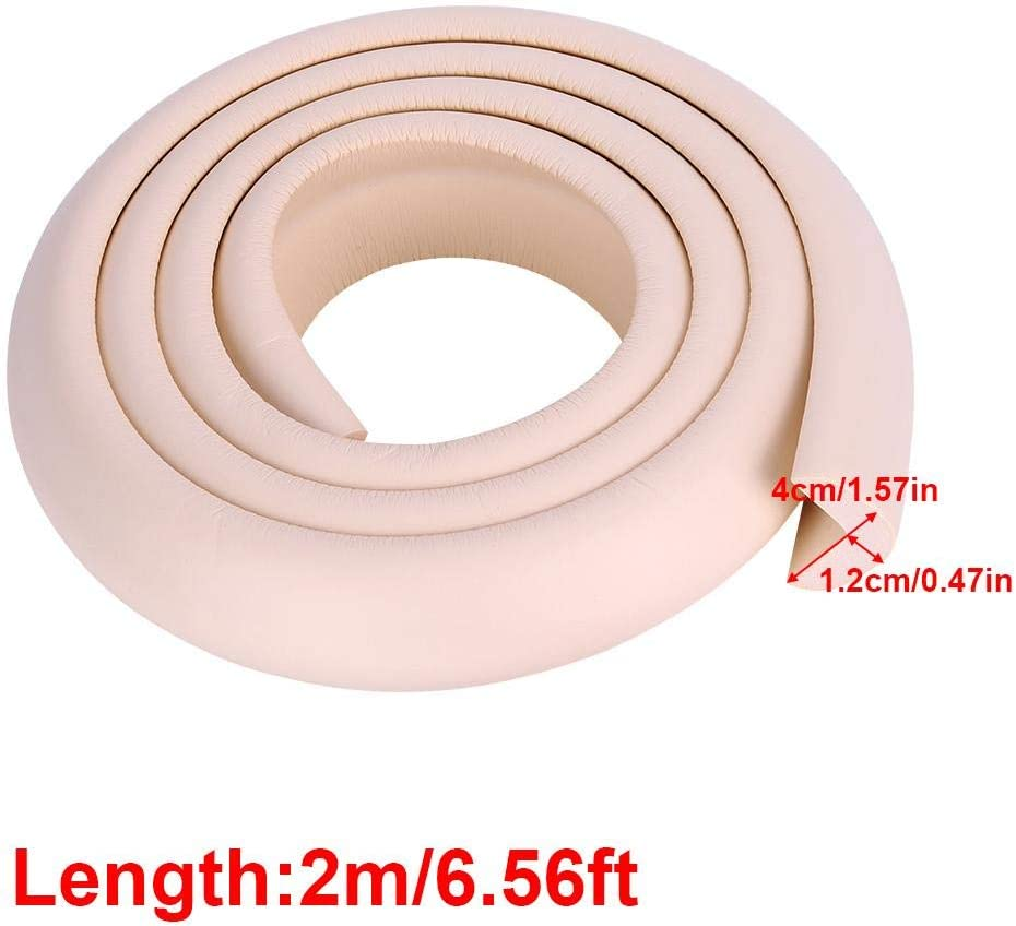 Coffee Bumper Strip 2M DIY Thicken Table Edge Guard Protectors Baby Kids Security Desk Fireplace Countertop Pre-Taped Corners Widen Strip Cushion for Room Decor