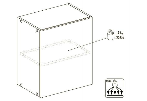 Tvilum Küchen Hängeschrank 50cm Weiß Küchenschrank Küche Möbel ...