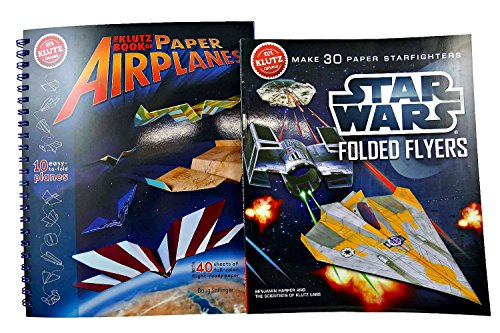 Star Wars Folded Flyers and Book of Paper Airplanes Bundle - Ultimate Fun for Kids