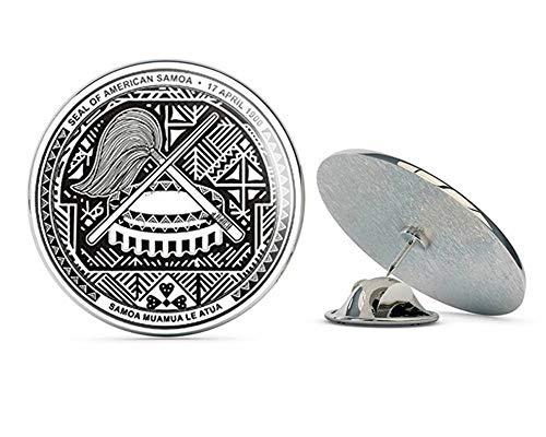 Samoa Lapel Pins (NYC Jewelers Round Seal of American Samoa 1900 (Island) Metal 0.75