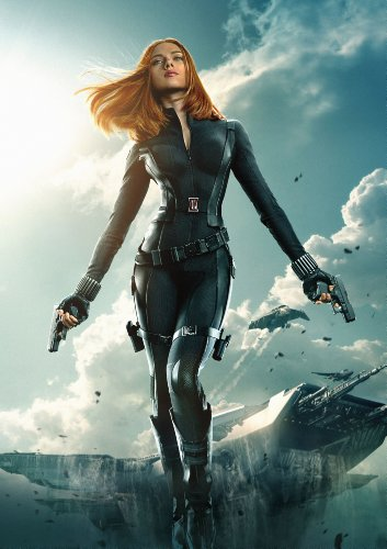 "BLACK WIDOW (Scarlett Johansson) - Captain America: The Winter Soldier (2014) : Movie Poster (Thick) 24"" x 36"" Inches - Chris Evans, Frank Grillo, Scarlett Johansson"