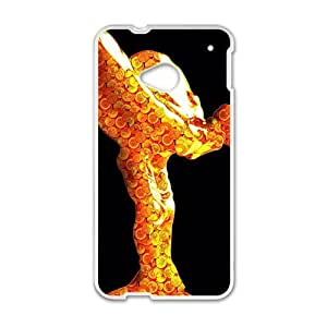 Happy Shiny goldeng Rolls-Royce sign fashion cell phone case for HTC One M7