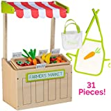 "Adora Amazing World ""Farmer's Market Wooden Play Set"" – 31 Piece Accessory Set for 18"" Dolls [Amazon Exclusive]"