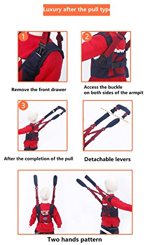 TRMB Handheld Baby Walker, Toddler Safety Harness to Prevent Baby Falling, Safe and Non-Toxic, Breathable and Comfortable, Pulling and Lifting Dual Use by GGTRMB (Image #2)