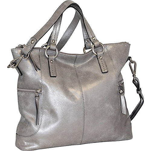 nino-bossi-crackle-convertible-tote-pewter