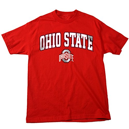 Elite Fan Shop Ohio State Buckeyes T Shirt Arch Red - L Arch T-shirt