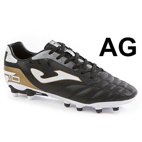 Joma n-10W _ 701_ AG Zapatillas Fútbol numero-10701Artificial Grass negro zapato, Hombre, negro negro