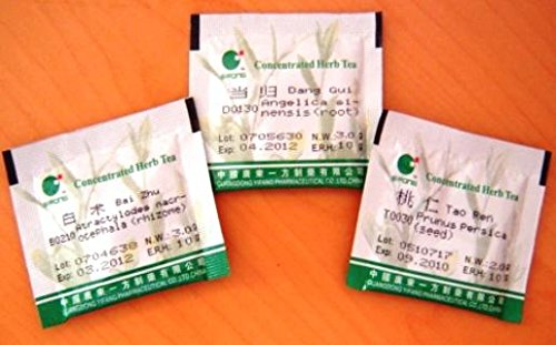 Ce Bai Ye,Oriental Arborvitae (leaf & branch tip), 25 packets of High Concentrated granules 14:1 by Baicao by E-Fong