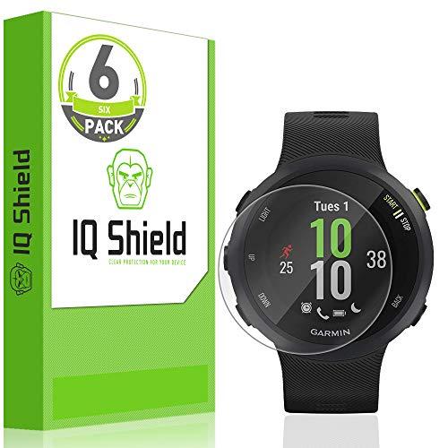 [6-Pack] IQ Shield LiQuidSkin Full Coverage Clear Screen Protector for Garmin Forerunner 45 (42mm) HD Anti-Bubble TPU Film