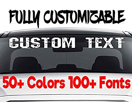 Stickers custom windshield decals word and number car truck window custom stickers windshield decal custom