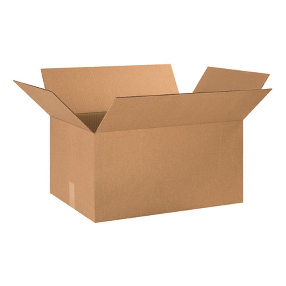 Aviditi 241612 Corrugated Box, 24'' Length x 16'' Width x 12'' Height, Kraft (Bundle of 10)