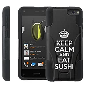 [ManiaGear] Rugged Armor-Stand Design Image Protect Case (Keep Clam And Sushi) for Amazon Fire Phone