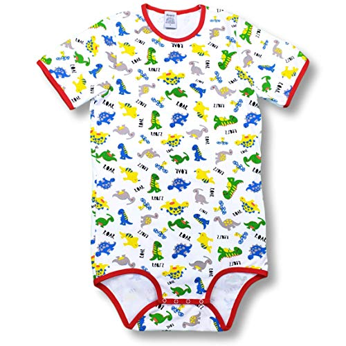 Rearz - Dinosaur - Snap Crotch Onesie (Medium) White]()