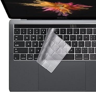 i-Buy Ultra Fino Clear TPU Teclado Cubierta Macbook Pro 13/15 con Touch Bar y Touch ID[Teclado QWERTY español]- Claro: Amazon.es: Electrónica
