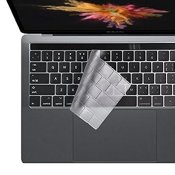 i-Buy Ultra fino Clear TPU teclado cubierta para Macbook Pro 13 / 15 Con Touch Bar y Touch ID[teclado QWERTY español]- Claro: Amazon.es: Electrónica