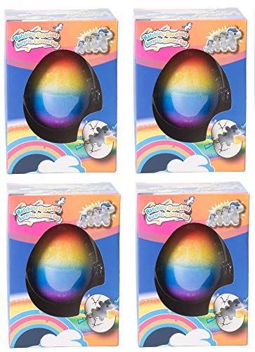 - Master Toys and Novelties 4 Pack - Surprise Growing Unicorn Hatching Rainbow Egg Kids Toys, Assorted Colors