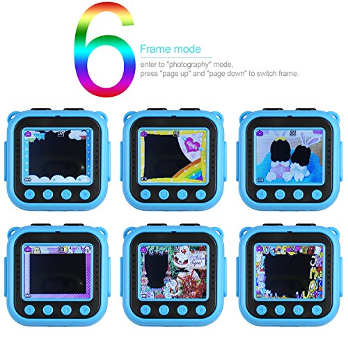 Ourlife kids Waterproof Camera with Video Recorder includes 8GB memory card (Blue) by Ourlife (Image #1)