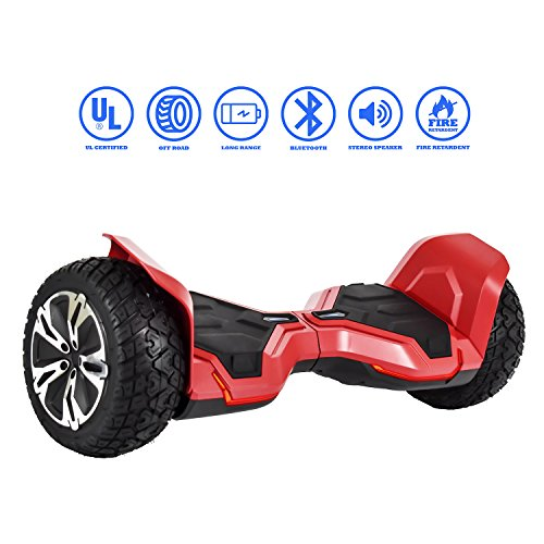 NHT All-Terrain 8.5' Wheels Off-Road Hoverboard Self Balancing Scooter with Bluetooth Speaker & Tron...