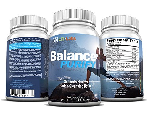 Natural Colon Cleanse Detox Supplement – Boost Weight Loss & Detoxify Body with Herbal & Root Blend in 15 Day Cleanse – Balance Purify Colon Cleanser – Constipation Relief – 90 Pill Capsules 890mg
