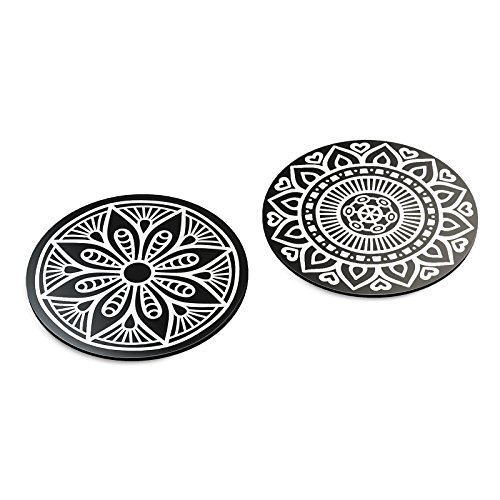 Intricate Metal - VAVA Metal Plates with 2 Circles - Strong Stickiness, Rust-Free Iron Material