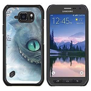 TECHCASE---Cubierta de la caja de protección para la piel dura ** Samsung Galaxy S6 Active G890A ** --Gato de Halloween Gatito gris de ojos