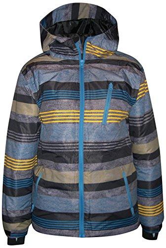 Pulse Big Boys Youth Kids Insulated Snow Ski Jacket Coat Dash (Medium (12/14), Gold/Marine)