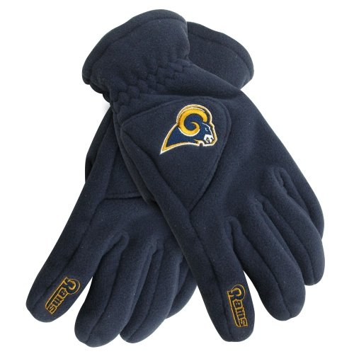 Reebok Football Glove - NFL Los Angeles Rams 180s Winter Glove W/ Exhale Heating System (XS)
