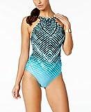 Calvin Klein Womens Ombre Tie-Dyed One Piece Swimsuit Mediterranean 12