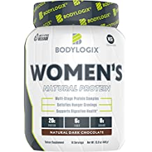Bodylogix Women's Protein Powder, NSF Certified, Natural Dark Chocolate, 15.8 Ounces