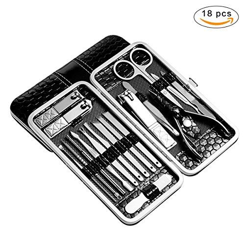 18 Piece Manicure Pedicure Set Nail Clippers - FEIAJING Stai