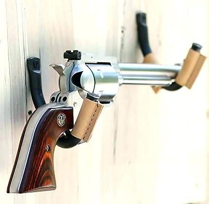 Gancho de Pared para Rifle de Acero Inoxidable con Forro de Fieltro 2 Unidades Steellwingsf