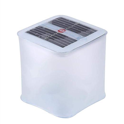 Hamkaw Farol Solar Hinchable, Lámpara Camping LED Plegable con 3 ...