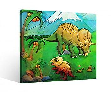 Amazon De Leinwandbild 1tlg Dino Dinos Kinderzimmer Dinosaurier