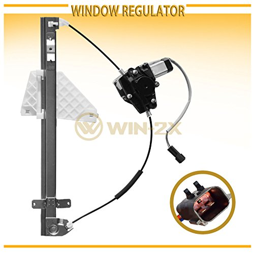 WIN-2X New 1pc Rear Passenger (Right) Side Power Window Regulator & Motor Assembly Fit 01-04 Jeep Grand Cherokee