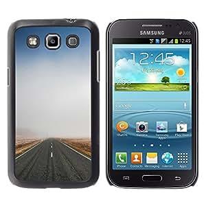 Caucho caso de Shell duro de la cubierta de accesorios de protección BY RAYDREAMMM - Samsung Galaxy Win I8550 - Nature Fog Road