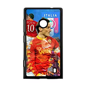 Italian Football Super Star&Francesco Totti Background Case Cover for Nokia Lumia 520- Personalized Hard Cell Phone Back Protective Case Shell-Perfect as gift