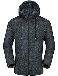 Men Fleece Hoodie Jacket Sherpa Lined Full Zip Up Sweatshirt Winter Coat Casual Sport Outwear