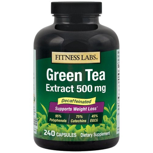 Fitness Labs Green Tea Extract 500 Mg Decaffeinated, 240 Capsules ()