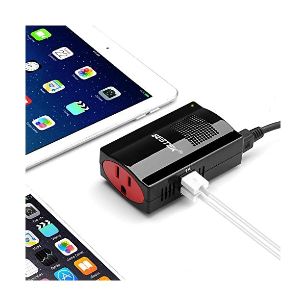 BESTEK 150W Power Inverter DC 12V To 110V AC Car Adapter With 31A Dual USB Charging