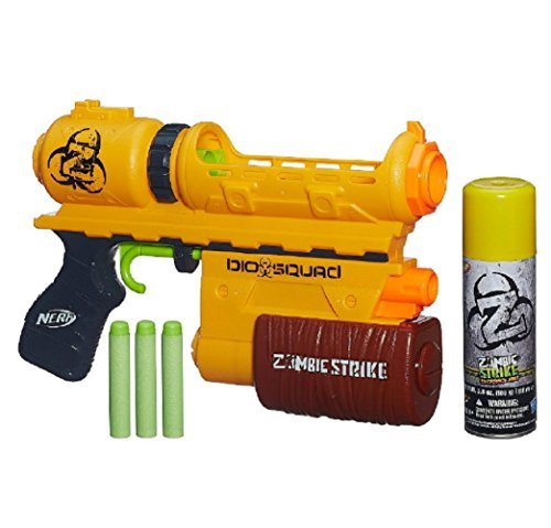 Nerf Zombie Strike Biosquad Zombie Eraser ZR-100 Blaster (Standard Packaging) (Nerf Swords And Axes)