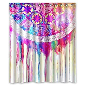 Fashionable Bathroom Collection Custom Waterproof Dream Catcher Shower Curtain 60 X 72 With