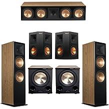Klipsch 5.2 Cherry System with 2 RF-7 III Floorstanding Speakers, 1 RC-64 III Center Speaker, 2 Klipsch RP-250S Surround Speakers, 2 Klipsch PL-200II Subwoofers