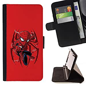 DEVIL CASE - FOR HTC DESIRE 816 - Spider Superhero Cool - Style PU Leather Case Wallet Flip Stand Flap Closure Cover