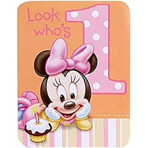 Amazon Com Baby Minnie Mouse 1st Birthday Invitations 8