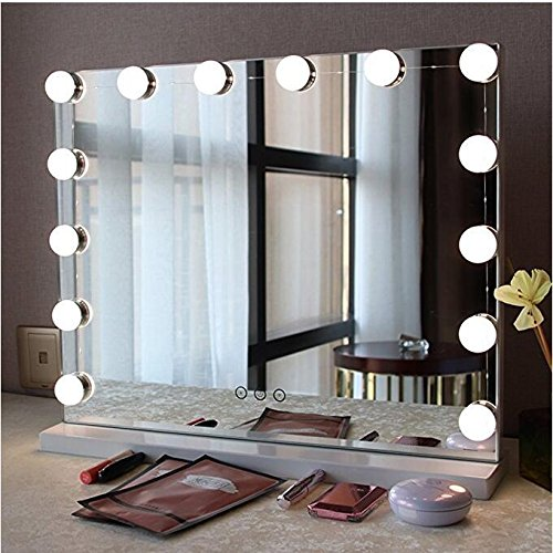 Vanity Mirror Lights Hollywood Style Kit,10 Dimmable LED Bulbs,Lighting Fixture Strip for Makeup Vanity Table Set in Dressing Room Bathroom Mirror Not Include