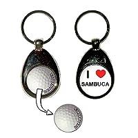 I Love Heart Sambuca - Golfball-Markierung Key Ring
