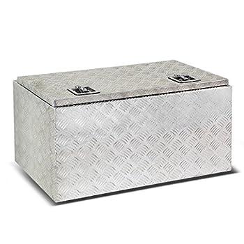 """36""""x18""""x16"""" Aluminum Pickup Truck Bed Trailer Key Lock Storage Tool Box"""