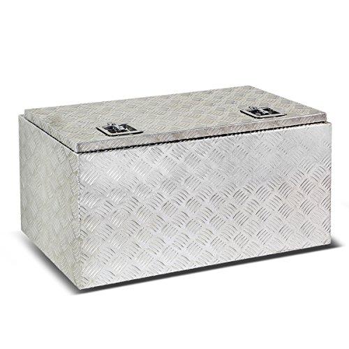 36″x18″x16″ Aluminum Pickup Truck Bed Trailer Key Lock Storage Tool Box