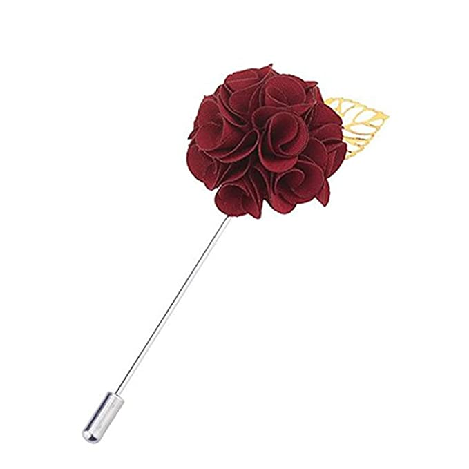 Image Unavailable. Image not available for. Color  Fabric Flower Lapel Pin  Elegant Women ... f59b9fd7fa