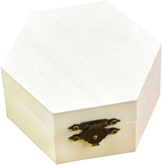 kentop Seis – Caja de madera con tapa para guardar joyas Madera ...
